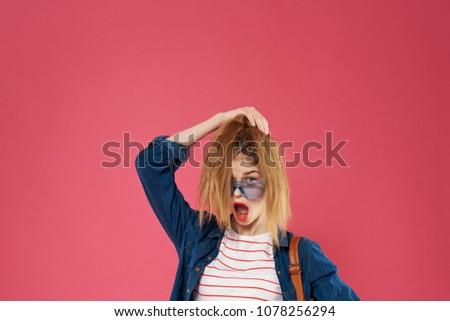 surprised woman, beauty, fashion                              #1078256294