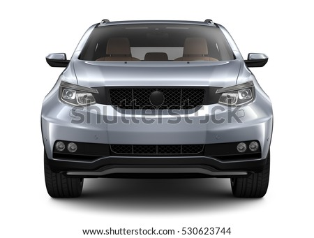 SUV Car - front view (3D render)