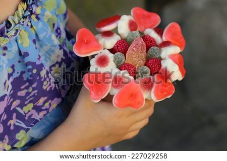 Sweet bouquet with gummi candies/Sweet bouquet