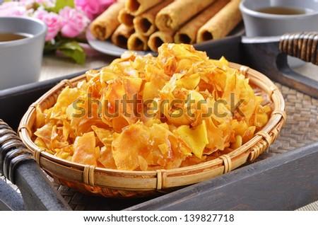 sweet potato crisp - stock photo
