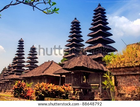 Taman Ayun Temple in Mengwi (Bali, Indonesia) on a beautiful sunny day(dated from 1634).