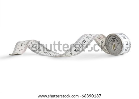 tape measure isolated on white