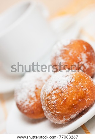 3 tasty donuts on the dish