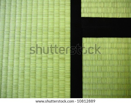 3 Tatami mats (traditional Japanese mats made of rice straw). These are pretty new, so they're still green, later they get more yellow, like dried straw.