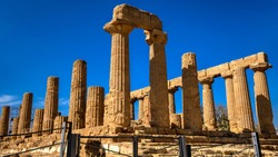 Temple of Juno at Valley of the Temples in Agrigento, Sicily, Italy.