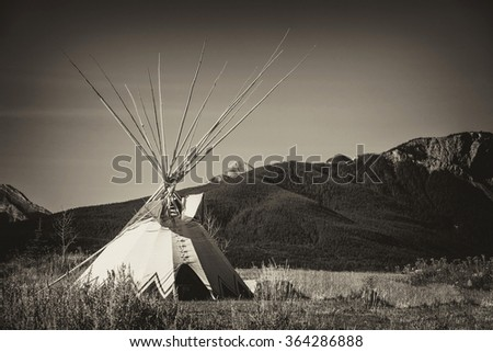 tepee on the plains of alberta ...