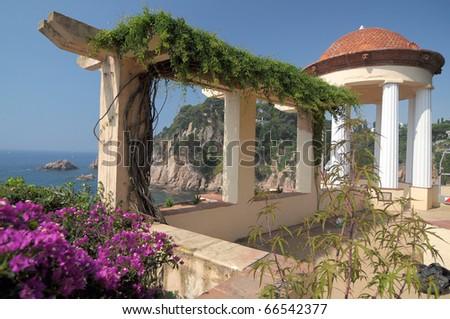 terrace in botanic garden