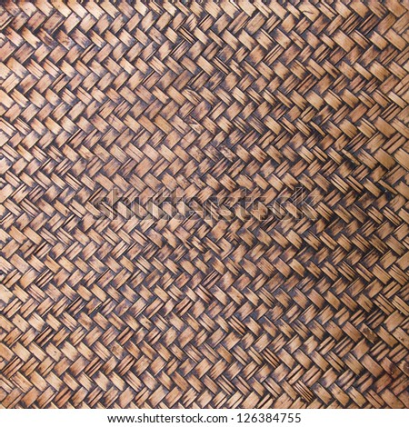 Texture of bamboo weave for background