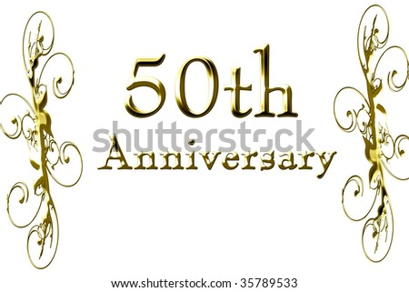 stock photo 50th anniversary on a solid white background