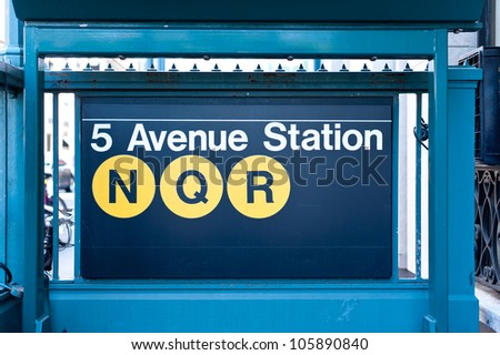 5th Avenue subway station in New York City.
