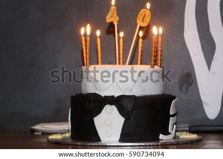 40th Birthday Cake 590734094