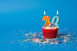 20th Birthday cupcake landscape