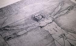 14th century anatomy art by Leonardo Da Vinci