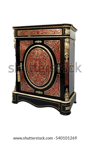 19th century Boulle Credenzas Cabinets French Sideboard inlay with red tortoise shell and brass #540101269