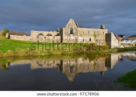 14th Century Franciscan Friary in Askeaton, Co. Limerick, Ireland - stock photo