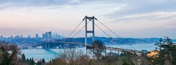 15th July Martyrs Bridge (15 Temmuz Sehitler Koprusu). Istanbul Bosphorus Bridge. Istanbul, Turkey.