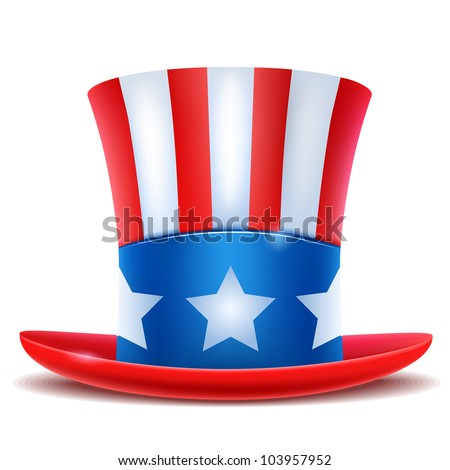 4th of July celebration hat icon. - stock photo