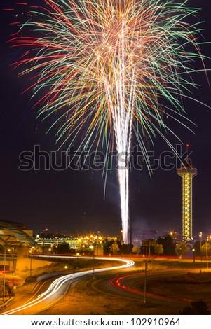 4th of July fireworks celebration in Denver Colorado