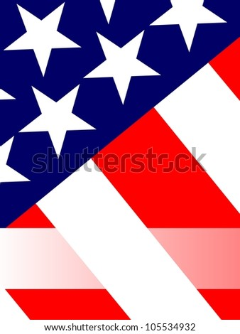4th of July Greeting Card, Blank Message Field, Raster Version