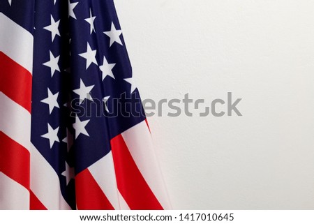 4th of july independence day American flags white background Empty space for text #1417010645