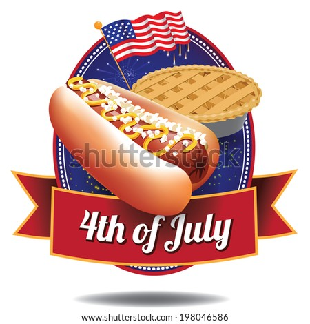 4th of July independence day icon