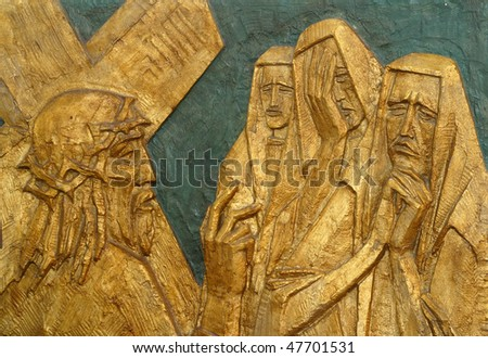 8th Station of the Cross, Jesus meets the daughters of Jerusalem