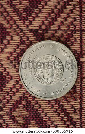 Thai baht silver coins #530355916