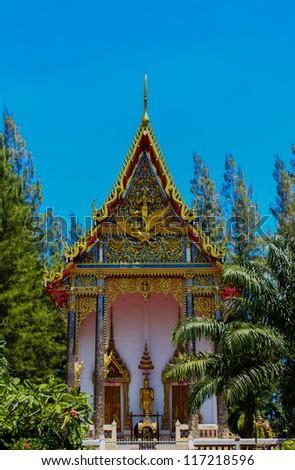 Thai Buddhist Church, Srisoonthorn temple, Phuket, Southern of Thailand