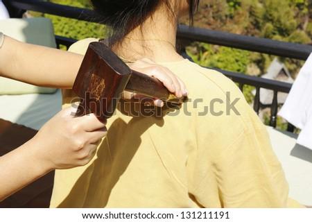 thai massage - wood for massage equipment