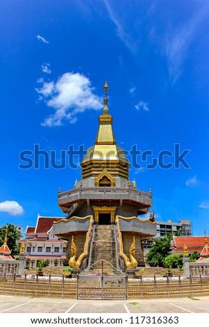 Thai pagoda, Phothisoonthorn temple, Udornthani province, Thailand