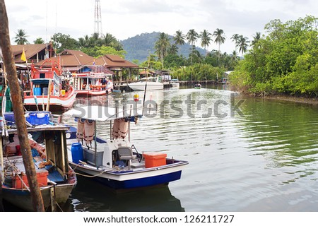 Thailand fishermans village on Koh Chang island