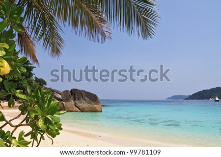 Thailand, the spring. A romantic beach in the picturesque Similan Islands