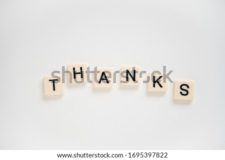 THANKS is a casual form of THANK YOU. ンキュー。ありがとう。 ストックフォト ©