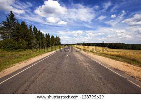 the asphalted road to summertime of year