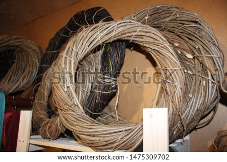 The basis for the New Year wreath. Weaving from twigs and twigs. #1475309702