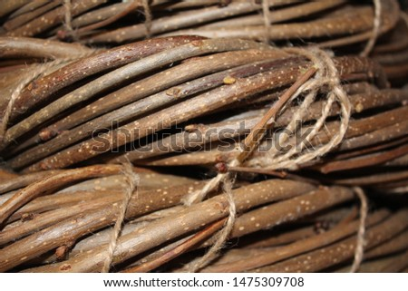 The basis for the New Year wreath. Weaving from twigs and twigs. #1475309708