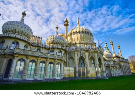 The Brighton Royal Pavilion is a beautiful building that was  built as a seaside pleasure palace for King George IV,  built in 1786 it sees half a million tourists a year