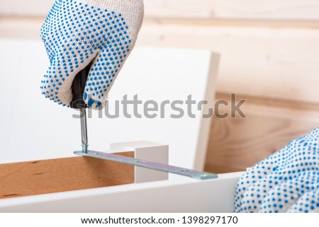 .The buyer collects ready-to-assemble folding table. Ready-to-assemble furniture