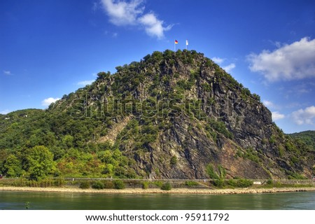 """The famous """"Loreley"""" rock  Rhine River Valley, Germany"""
