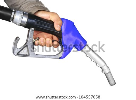 The fuel supply, blue pump needle