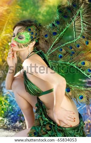 The girl - peacock