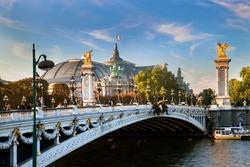 The Grand Palais, Paris, France and the Alexandre Bridge.