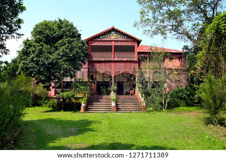 The house of a real  king in Bangladesh , built in 1899, is built with complete iron, the house is named Masud Manzil, local people call it an iron house.  #1271711389