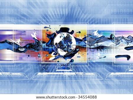 the Internet world concept