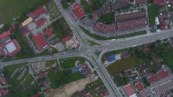 The junction of the four main routes of Tanjong Malim