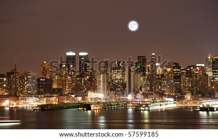 The Manhattan Skyline in New York City
