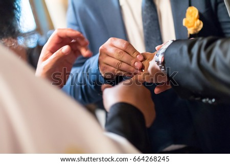 The moment of the wedding day #664268245