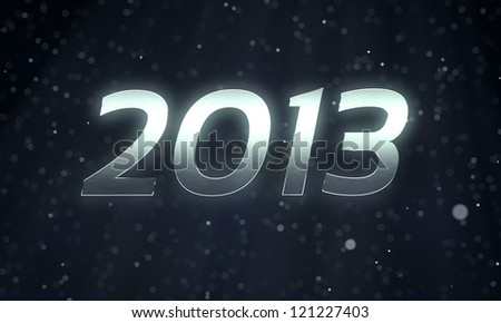 2013 The New Year 3D rendering concept. #121227403
