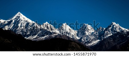 The Panchchuli peaks are a group of five snow-capped Himalayan peaks