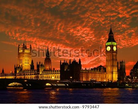 The Parliament Building ? Big Ben ? in London